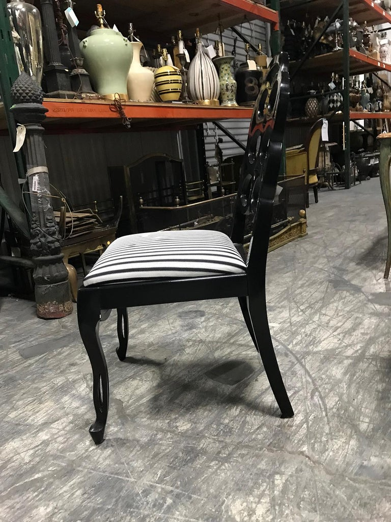 Assembled Set of 8 Loop Dining Chairs in the Style of Frances Elkins For Sale 3