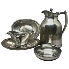 Assembled Set of Hotel Silver Serving Pieces