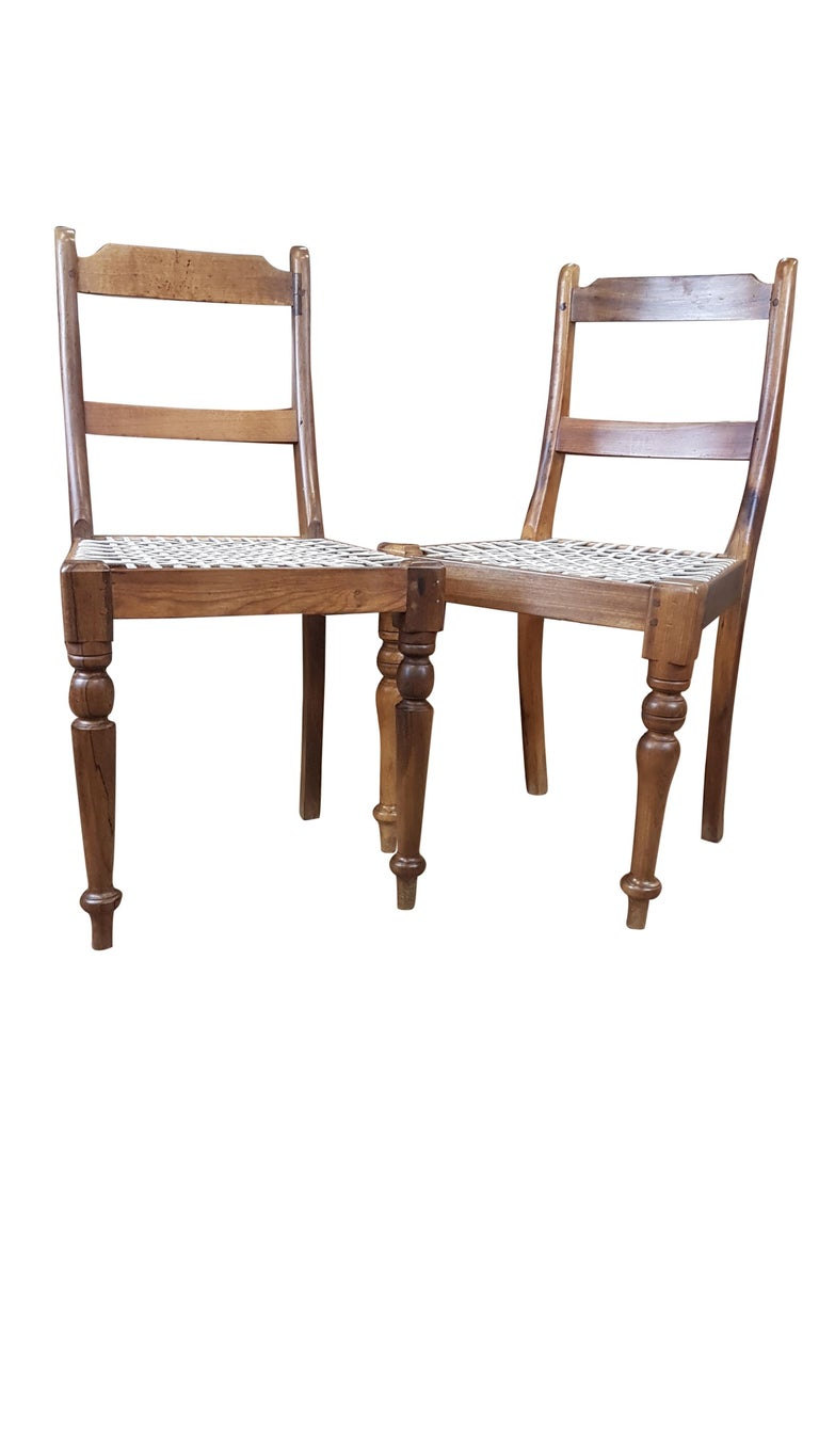 Indian Associated Pair of Late Victorian Colonial Chairs For Sale
