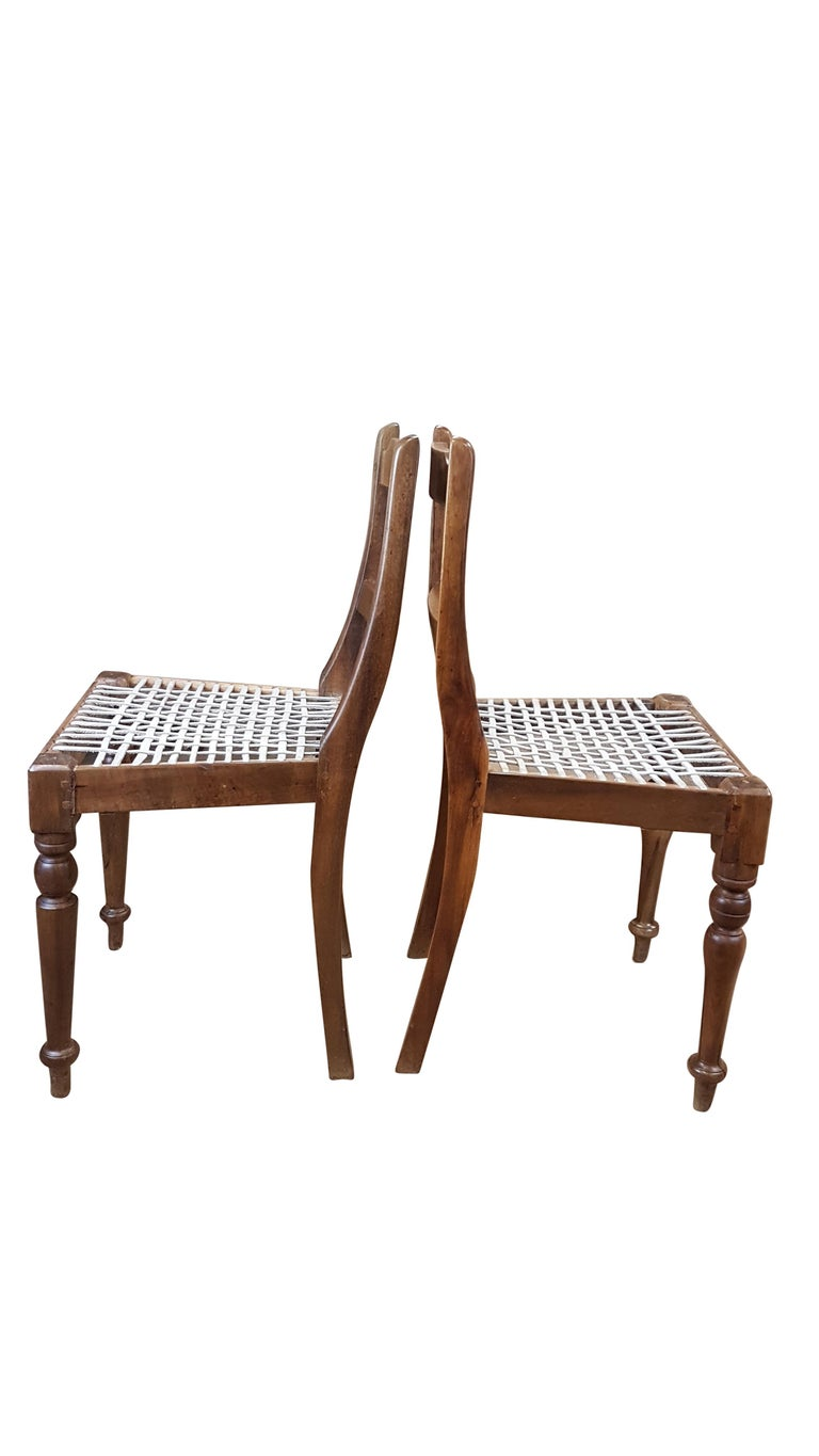 Late 19th Century Associated Pair of Late Victorian Colonial Chairs For Sale