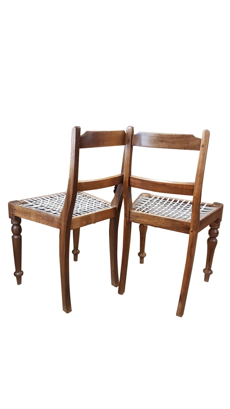 Teak Associated Pair of Late Victorian Colonial Chairs For Sale
