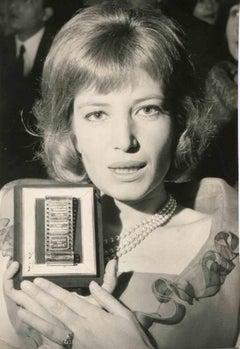 Portrait of Monica Vitti - Vintage Black and White Photo - 1960s