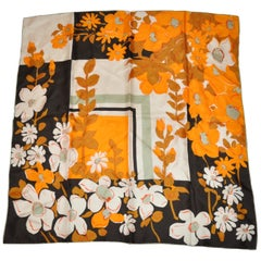 """Assorted Florals Of Changing Seasons"" Silk Scarf"