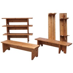 Assorted Small Dutch Pine Benches