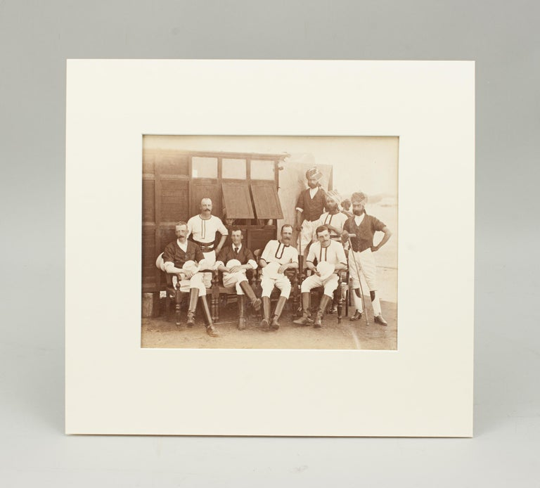 Indian Assortment of Four Black & White Polo Photographs For Sale