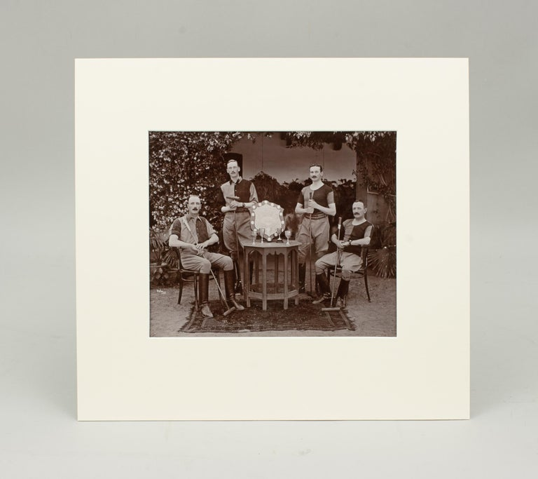 Assortment of Four Black & White Polo Photographs In Good Condition For Sale In Oxfordshire, GB