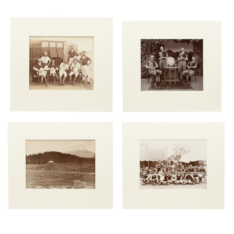 Assortment of Four Black & White Polo Photographs For Sale