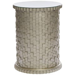 Astaire Accent Table II in Antique Silver Leaf by Innova Luxuxy Group