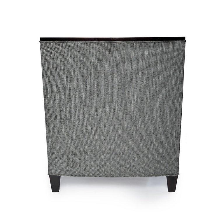 Modern Astaire Lounge Chair II in Herringbone by Badgley Mischka Home For Sale