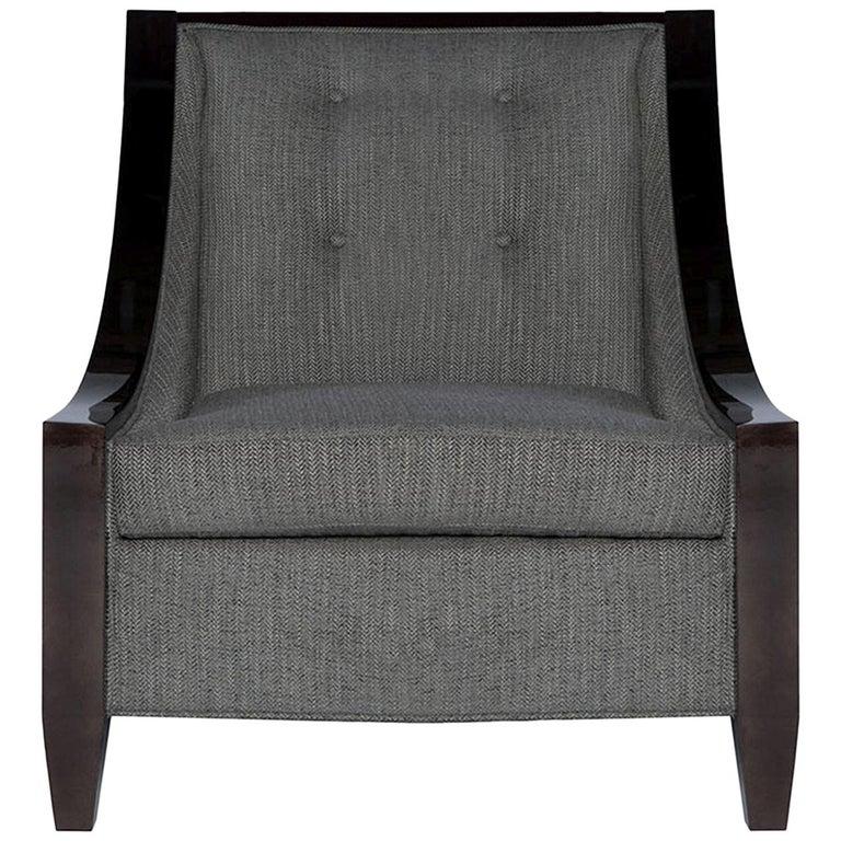 Astaire Lounge Chair II in Herringbone by Badgley Mischka Home For Sale