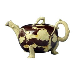 Astbury Type Early Staffordshire Pottery Teapot Mid-18th Century English