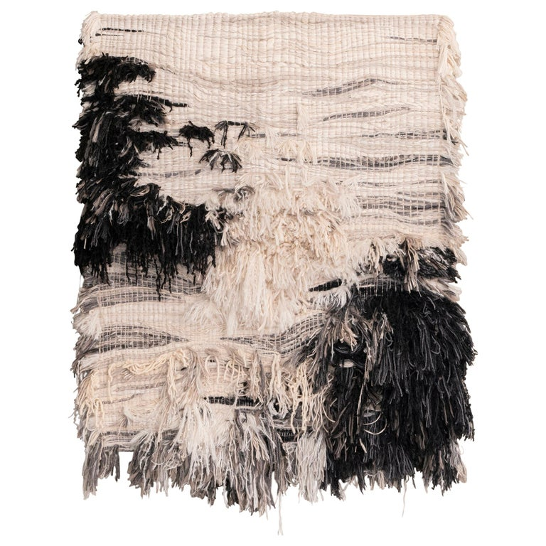 """""""ASTER"""" Wool / Linen Textile Wall Artwork by Perrine Rousseau For Sale"""