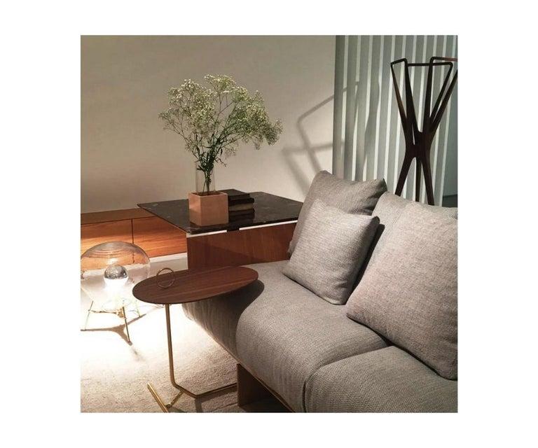 Brazilian Asti Brass Side Table For Sale