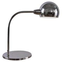 "Asti ""Venticinque"" Chromed Brass Italian Table Lamp for Candle Fontana Arte 1960"