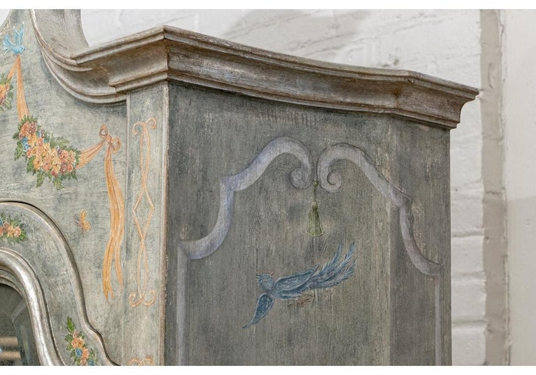 Astonishing Fine Paint Decorated Baroque Style Armoire Secretary For Sale 5