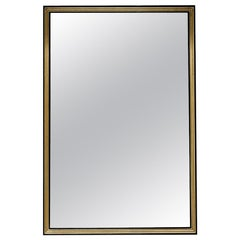 Astor Black Lacquered Mirror with Gold Leaf Details