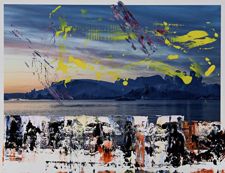 Ice, 2018 - Mixed Media Art by Astor Milan Salcedo