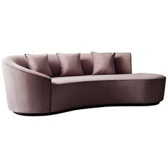 Astra Sofa by Demuro Das with Curved Back and Plinth Base