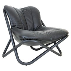 Astral Brazilian Contemporary Wood and Leather Easychair by Lattoog
