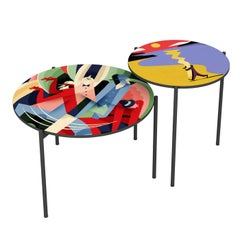 Astratto 57 Set of 2 Side Tables by Riccardo Guasco