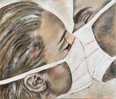 2020 - Contemporary Art, Corona, Masks, modern art, figurative art, oil painting