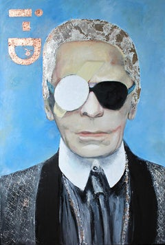 Karl Otto by Astrid Stöfhas - Contemporary pop art painting of Karl Lagerfeld
