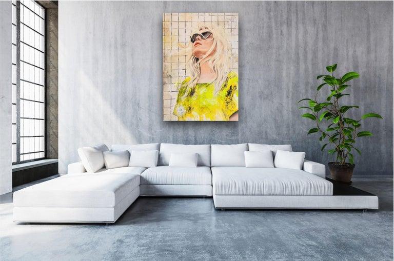 OT - Portrait, Woman, Summer, Fashion, 21stC, yellow, Contemporary Art, modern - Painting by Astrid Stöfhas