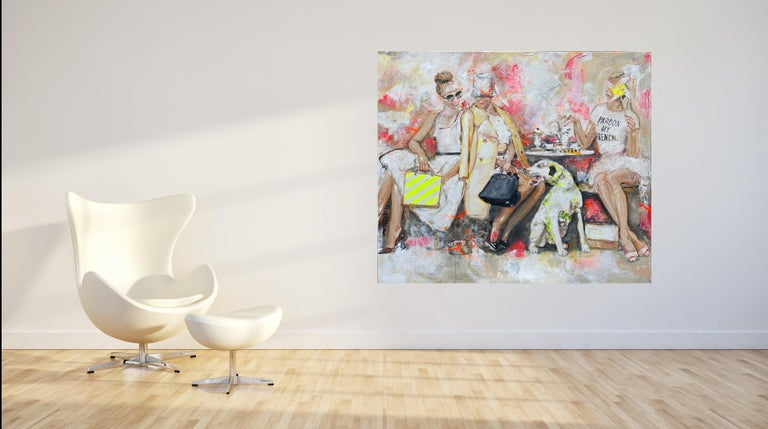 Pardon - Portrait, Woman, Fashion, 21stC, yellow, Contemporary Art, modern art - Painting by Astrid Stöfhas