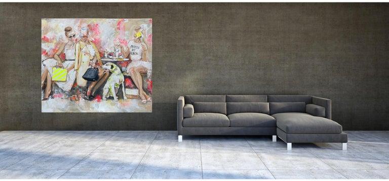 Pardon - Portrait, Woman, Fashion, 21stC, yellow, Contemporary Art, modern art - Gray Portrait Painting by Astrid Stöfhas