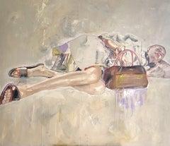 Waiting for the Sun-Portrait, Woman, Portrait, 21stC.,Contemporary Art, modern
