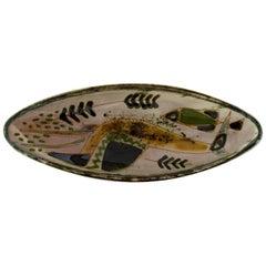 Astrid Tjalk for Kähler, Oblong Unique Dish in Pottery, 1960s