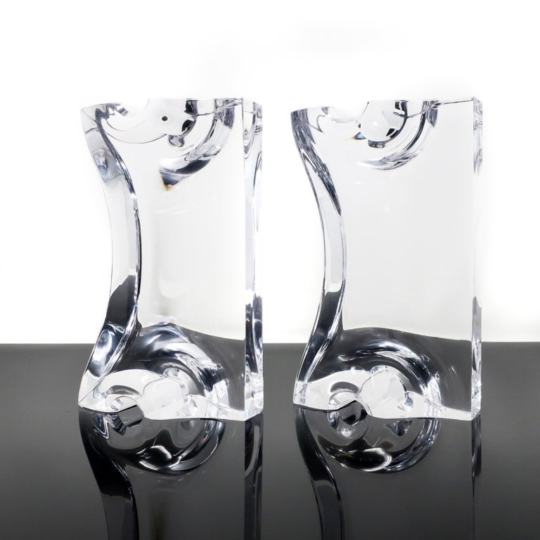 Mid-Century Modern Astrolite Lucite Bookends by Ritts Co. of Los Angeles For Sale
