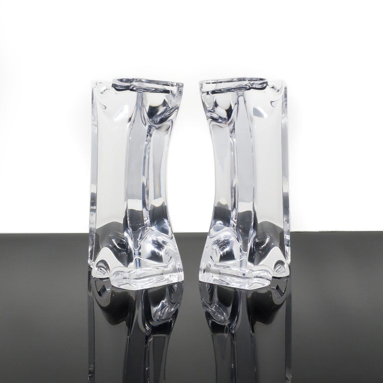 Astrolite Lucite Bookends by Ritts Co. of Los Angeles In Good Condition For Sale In Brooklyn, NY