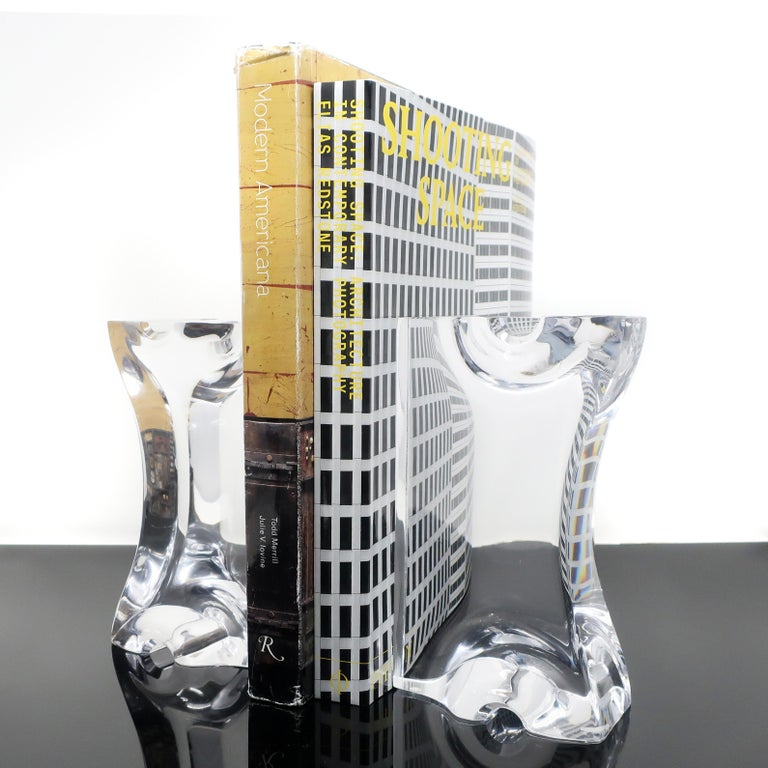 20th Century Astrolite Lucite Bookends by Ritts Co. of Los Angeles For Sale