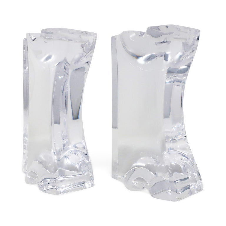 Astrolite Lucite Bookends by Ritts Co. of Los Angeles For Sale 1