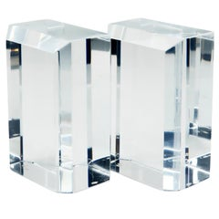 Astrolite Lucite Faceted Bookends by Ritts Co. of Los Angeles