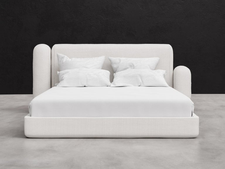 The Asym bed features asymmetrical design elements that are both sophisticated and simple. The unbalanced tension of the piece works beautifully together to make a minimal and elegant design statement. The displayed fabric is our warm and inviting