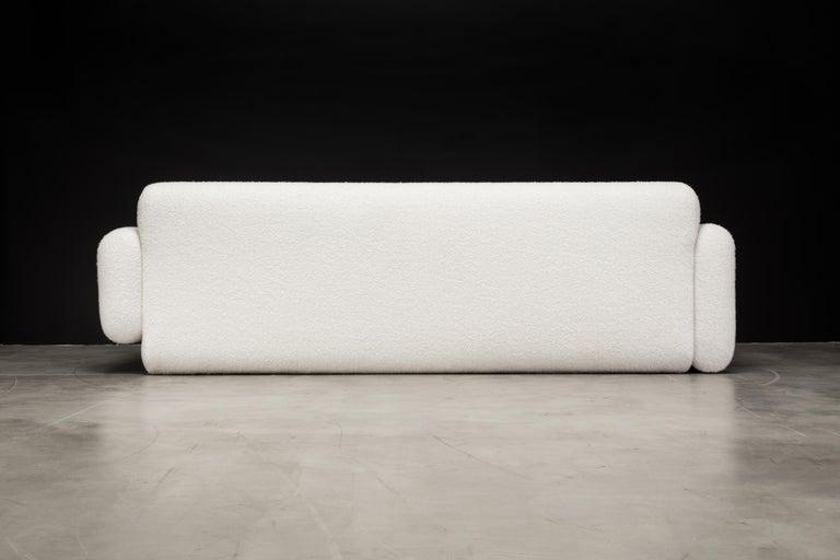 Upholstery Asym Sofa, Modern Asymmetrical Sofa in Cream Boucle  For Sale