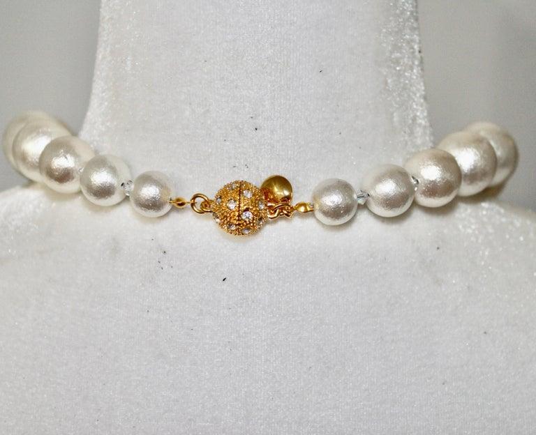 Contemporary Asymmetric Compressed Cotton Pearl strand For Sale