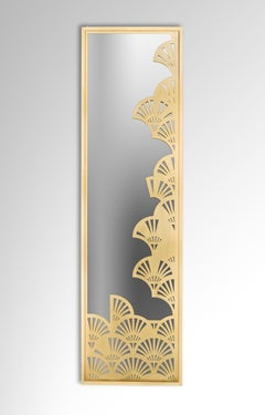 Asymmetric Lotus Pattern Brass Mirror Inspired from Ancient Egypt