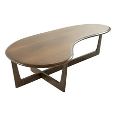 Asymmetric Mid-Century Modern Walnut Coffee Table