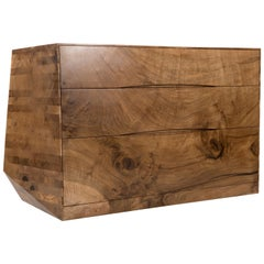 Asymmetrical Chest of Drawers of Solid Scottish Walnut by Jonathan Field, 2020