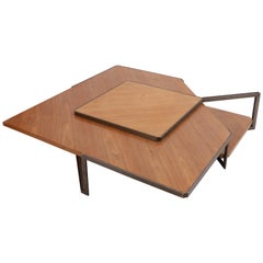Asymmetrical Coffee Table in the Style of Jules Wabbes