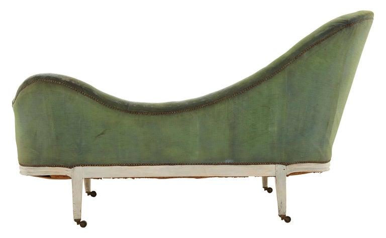 Asymmetrical Green Velvet Chaise Lounge At 1stdibs