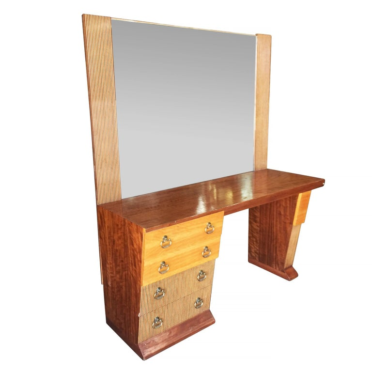 Mid-Century Modern Asymmetrical Midcentury Bedroom Set, Vanity For Sale