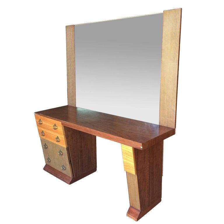 American Asymmetrical Midcentury Bedroom Set, Vanity For Sale