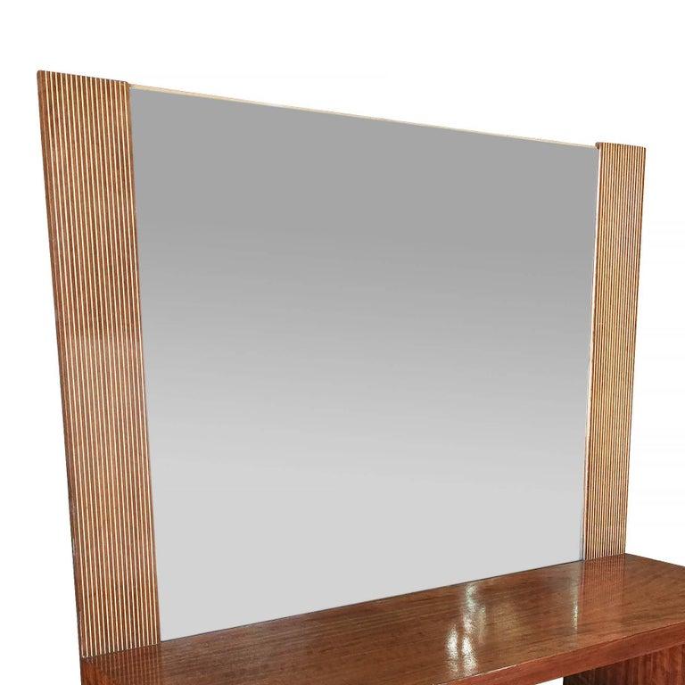 Asymmetrical Midcentury Bedroom Set, Vanity For Sale 2
