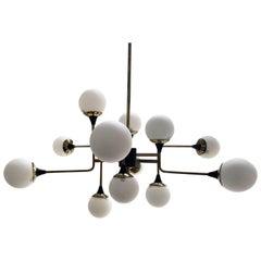 Asymmetrical Stilnovo Style Chandelier