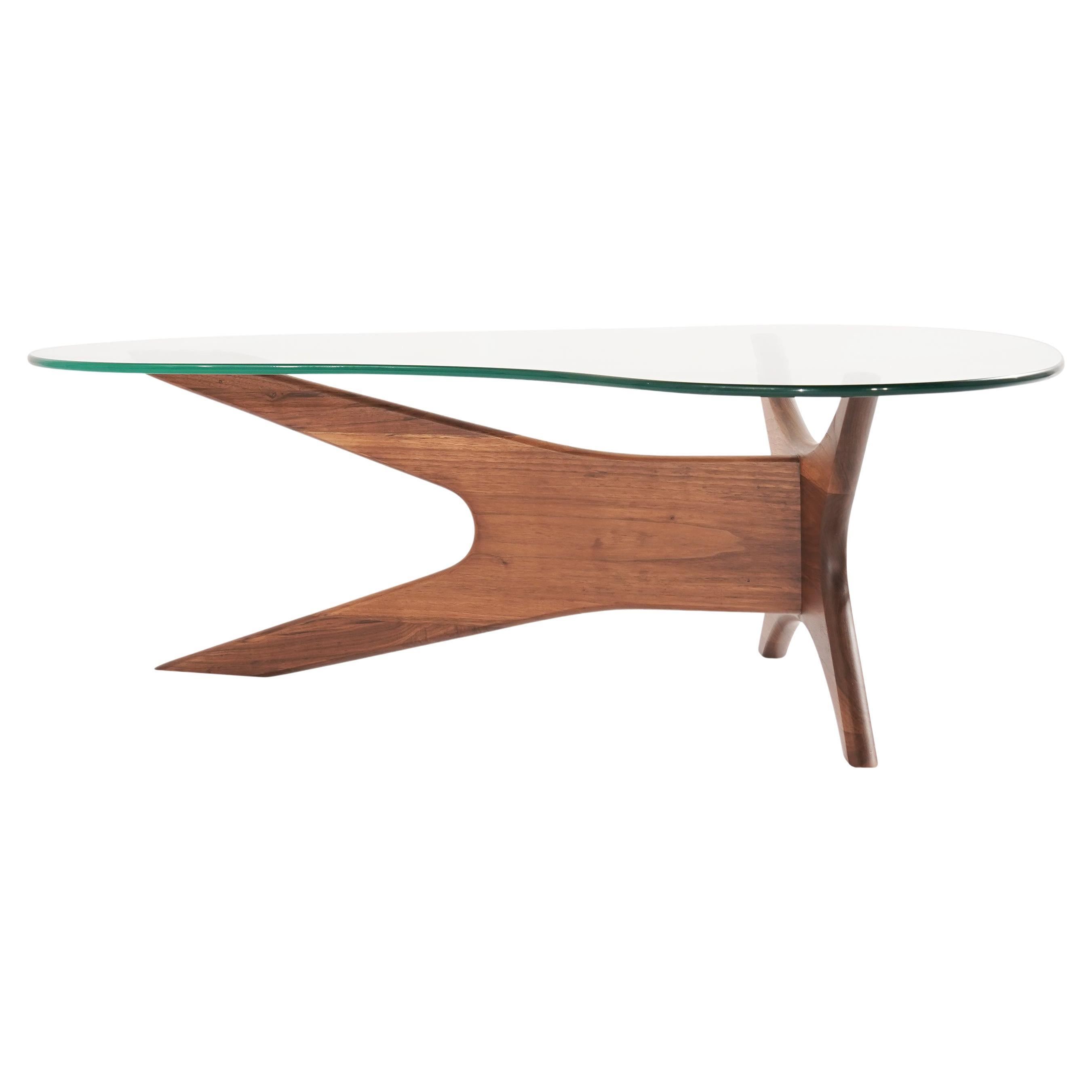 Asymmetrical Walnut Cocktail Table by Adrian Pearsall