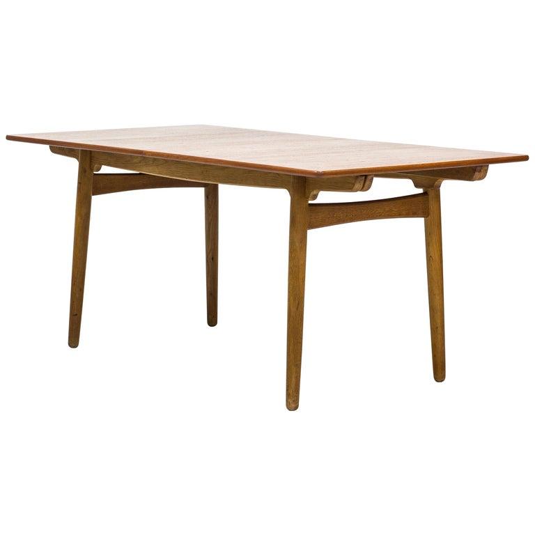 """AT-310"" Dining Table by Hans J. Wegner in Oak and Teak, Andreas Tuck, Denmark"